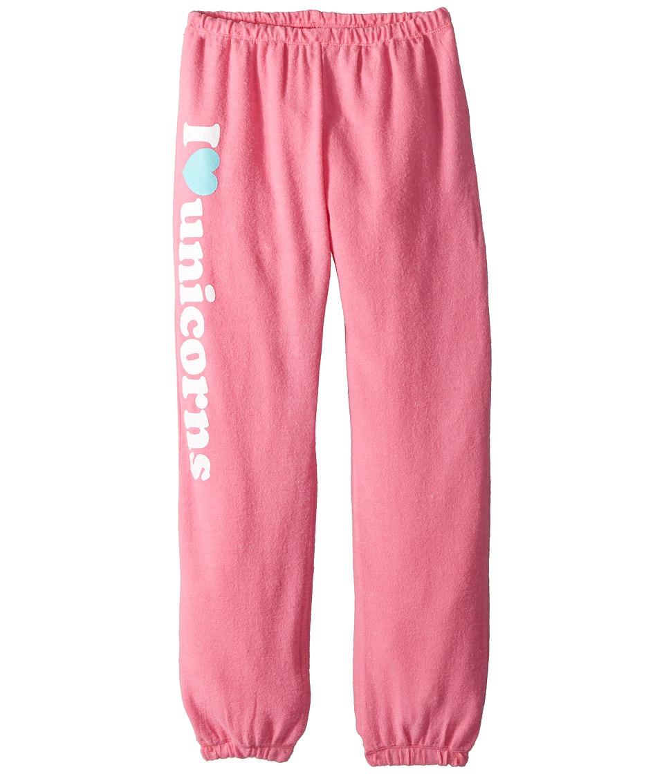 Chaser Kids - Soft Love Knit I Heart Unicorns Sweatpants (Big Kids) (Princess Pink) Girls Casual Pants