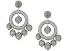Kenneth Jay Lane Graduated Silver Thread Wrapped Balls Drops w/ Dome Top Post Earrings