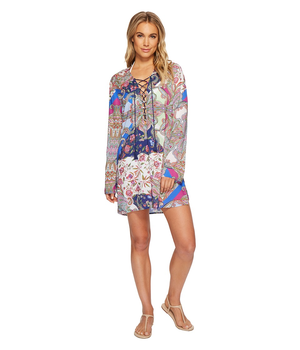 La Blanca Scarf Gypsy Tunic Top Cover-Up LA8KG55-960