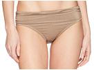 Kenneth Cole Lurex(r) Solids Shirred Hipster Bikini Bottom