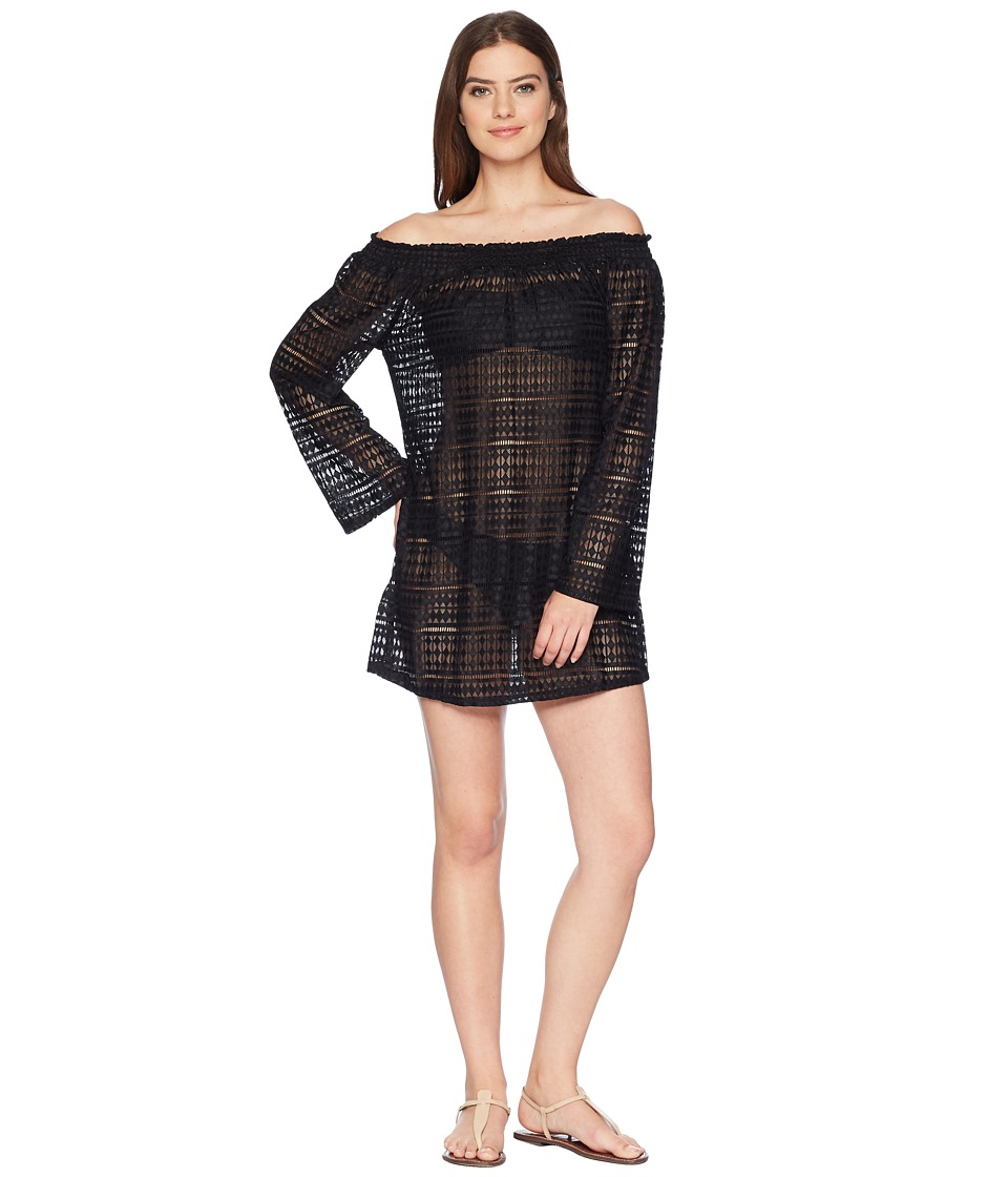 Kenneth Cole To The Beat Off the Shoulder Elastic Bell Sleeve Dress Cover-Up RS7RR30-001