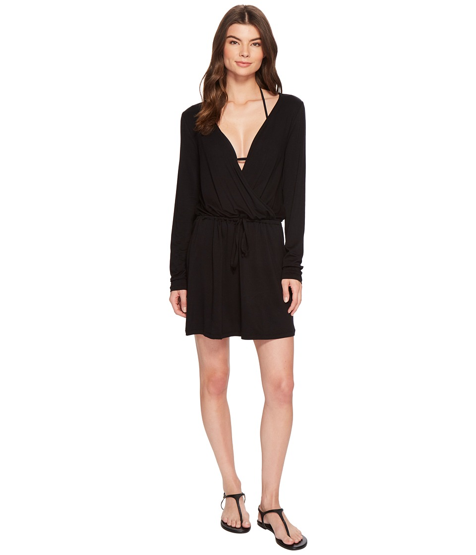 Kenneth Cole Frenchie Solids Long Sleeve Tunic Dress Cover-Up RS8VP51-001