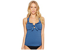 Lucky Brand All the Frills Halter Tankini Top