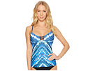 Lucky Brand High Tides Tankini Top
