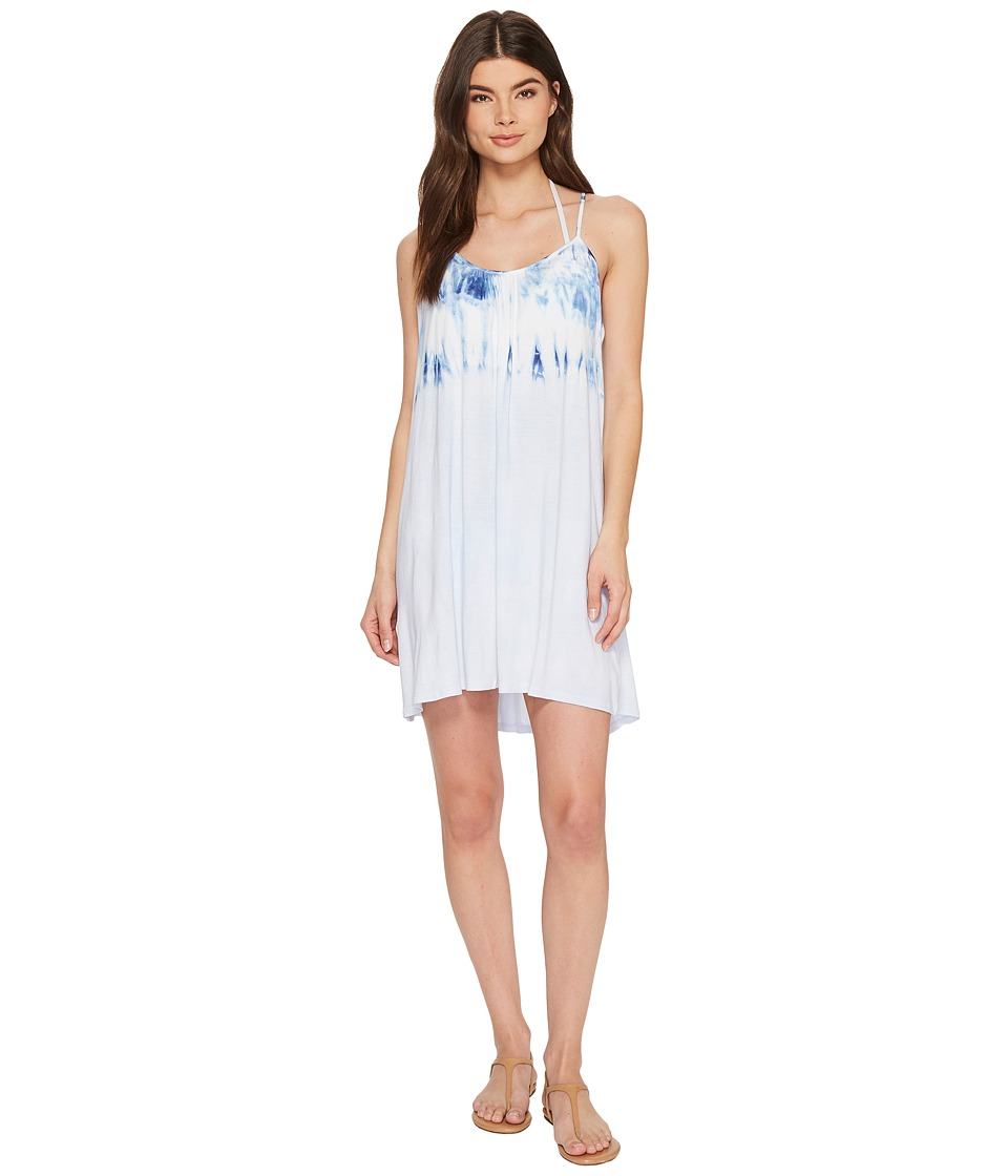 Lucky Brand Dip into Blue Swing Dress Cover-Up with Keyhole Back LK8AX31-402