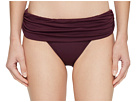 LAUREN Ralph Lauren LAUREN Ralph Lauren Beach Club Solids Wide Shirred Banded Hipster Bottom