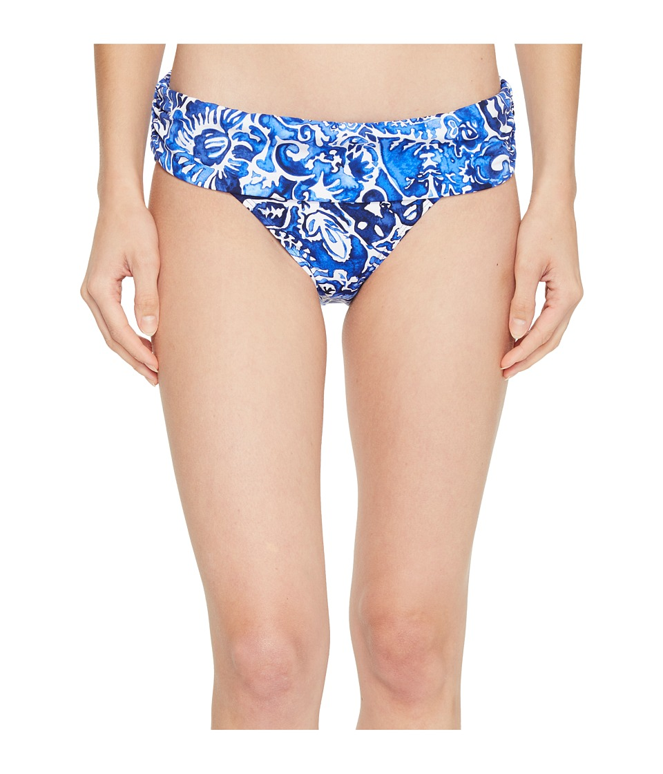 LAUREN Ralph Lauren Playa Floral Classic Shirred Banded Hipster Bottom LR8FN95-400