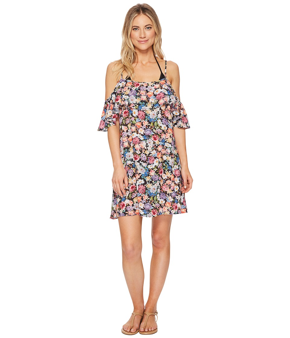 Lucky Brand Late Bloomer Cold Shoulder Ruffle Dress Cover-Up LK8AM31-960