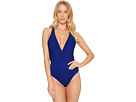 La Blanca Sin-Sation Surplice Over the Shoulder One-Piece