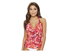 LAUREN Ralph Lauren LAUREN Ralph Lauren Exotic Paisley Halterkini Top with Molded Cups