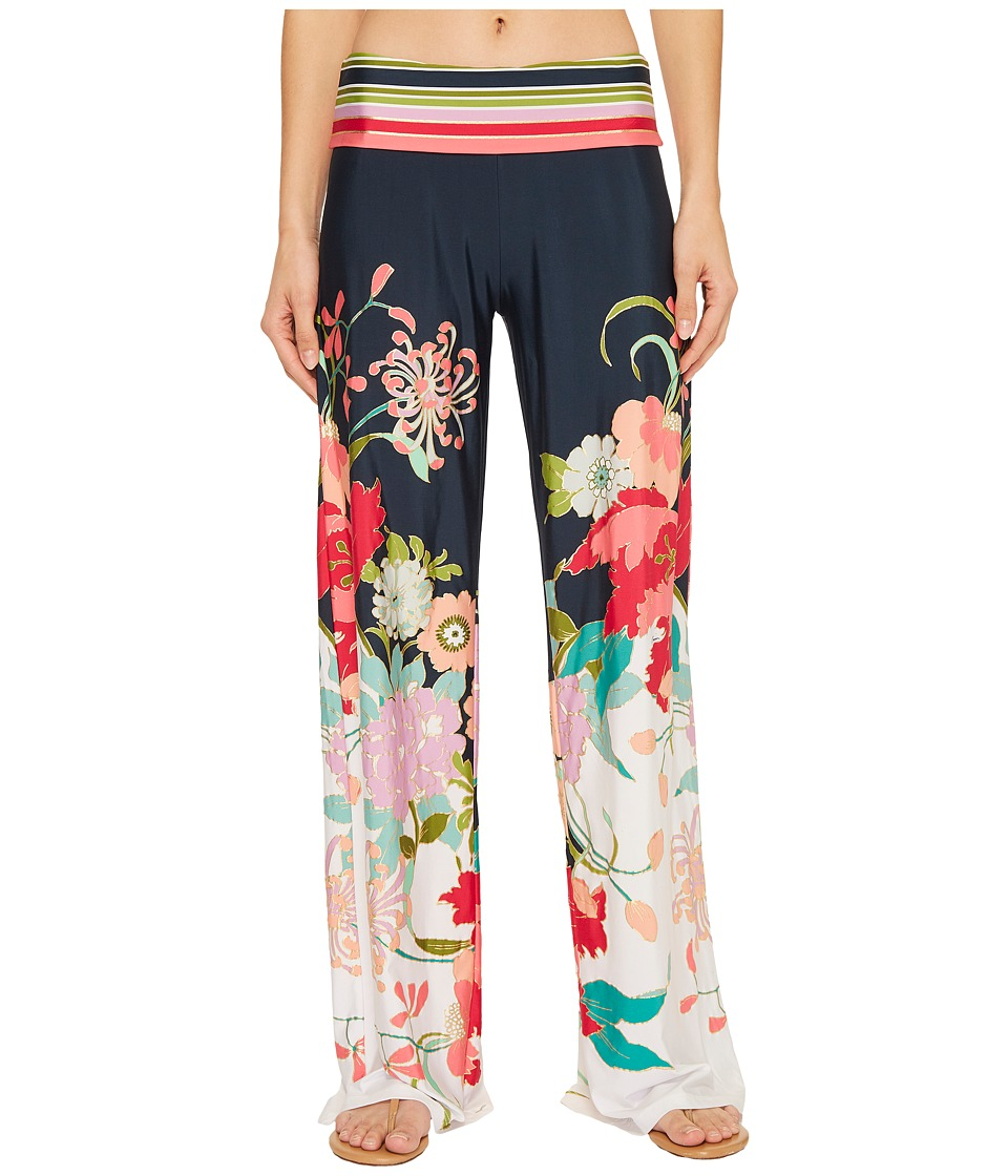 Trina Turk Royal Botanical Roll Top Pant Cover-Up TT8BT31-960