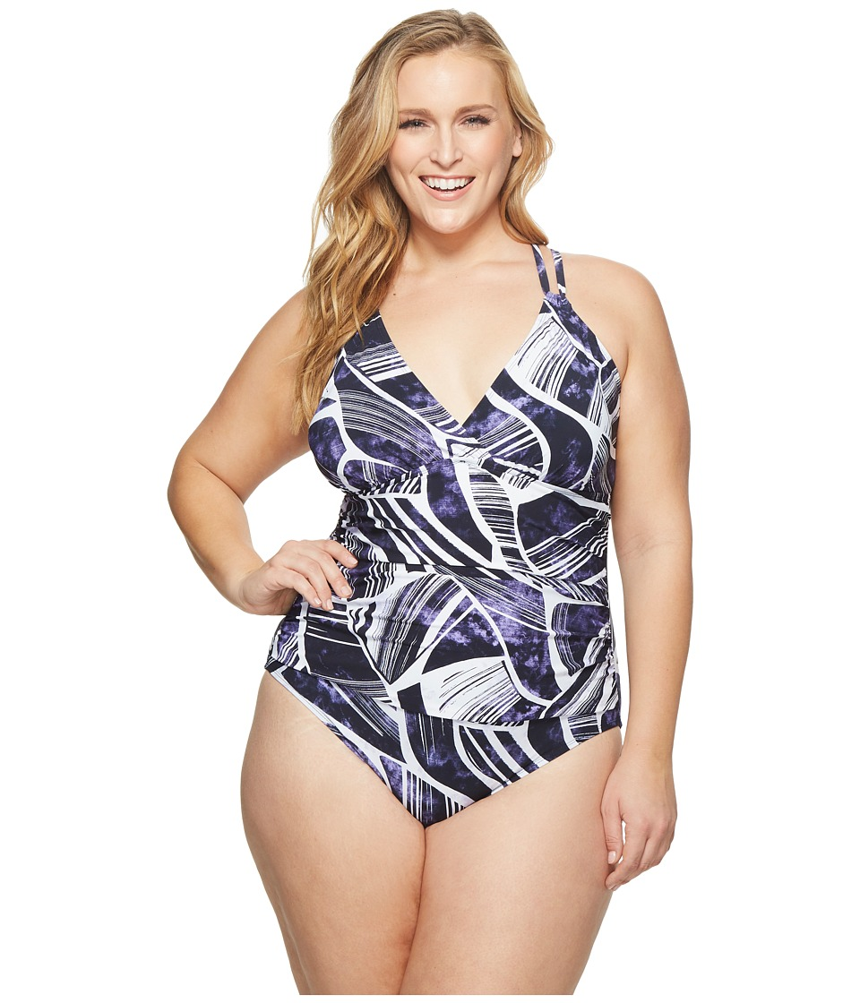 La Blanca - Plus Size Bali Hai Suplice One-Piece (Midnight) Womens Swimsuits One Piece