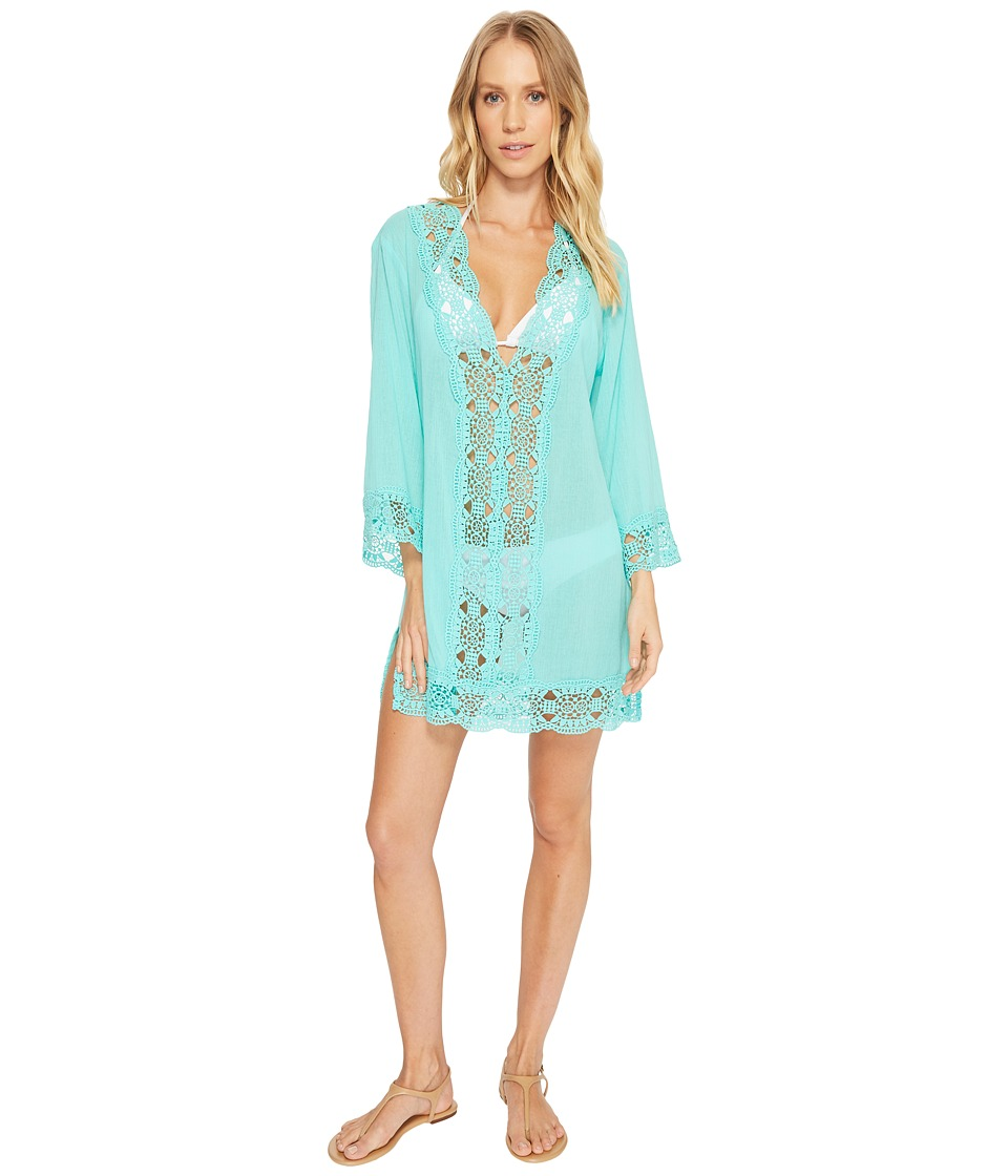 La Blanca - Island Fare V-Neck Tunic Cover-Up (Seafoam) Womens Swimwear