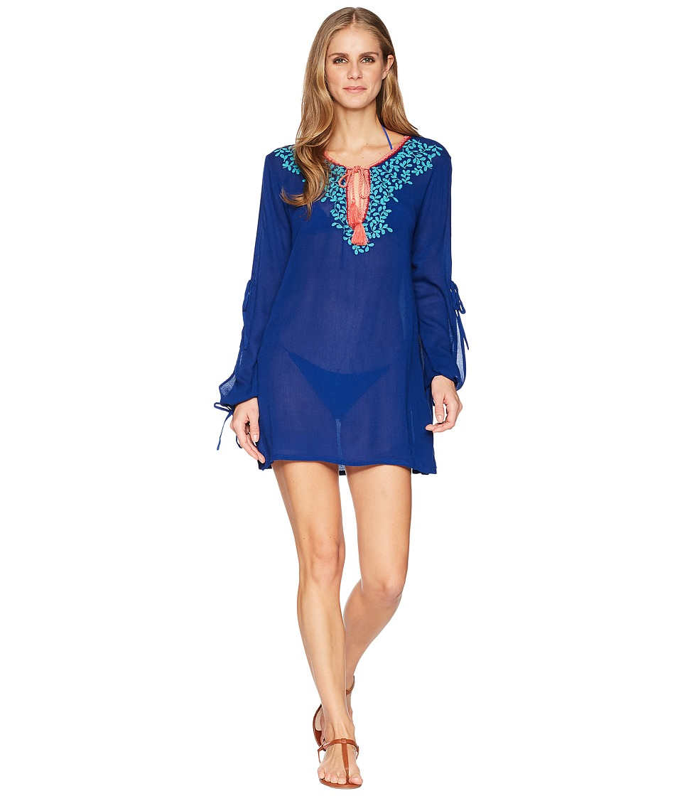 La Blanca Leaf It To Me Cool Shoulder Tunic Cover-Up LA8YC55-409
