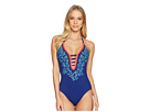 La Blanca La Blanca Leaf It To Me Keyhole Halter Mio One-Piece
