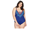 La Blanca La Blanca Plus Size Leaf It To Me Keyhole Mio One-Piece