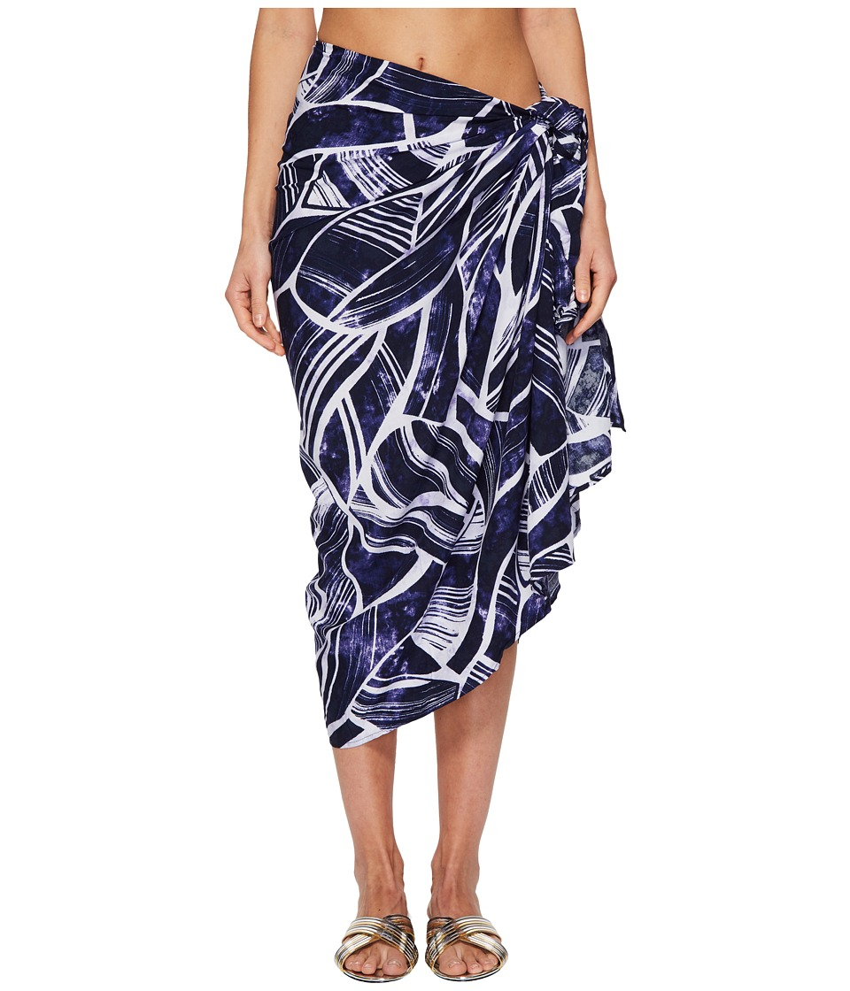La Blanca - Bali Hai Pareo Wrap Cover-Up (Midnight) Womens Swimwear