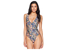 Kenneth Cole Twinning Floral Double Strap Reversible One-Piece