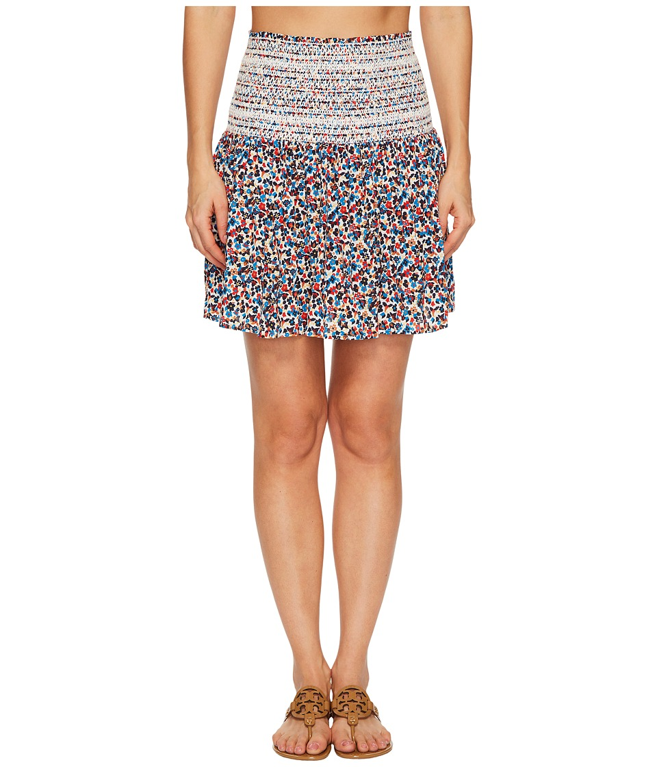 Tory Burch Swimwear Wildflower Smocked Skirt Cover-Up 45842-986