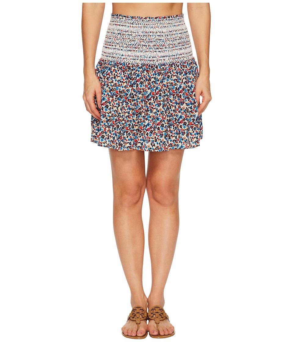Tory Burch Swimwear Wildflower Smocked Skirt Cover-Up (Mini Wildflower) Women