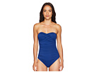 LAUREN Ralph Lauren LAUREN Ralph Lauren Beach Club Solids Twist Bandeau Underwire One-Piece
