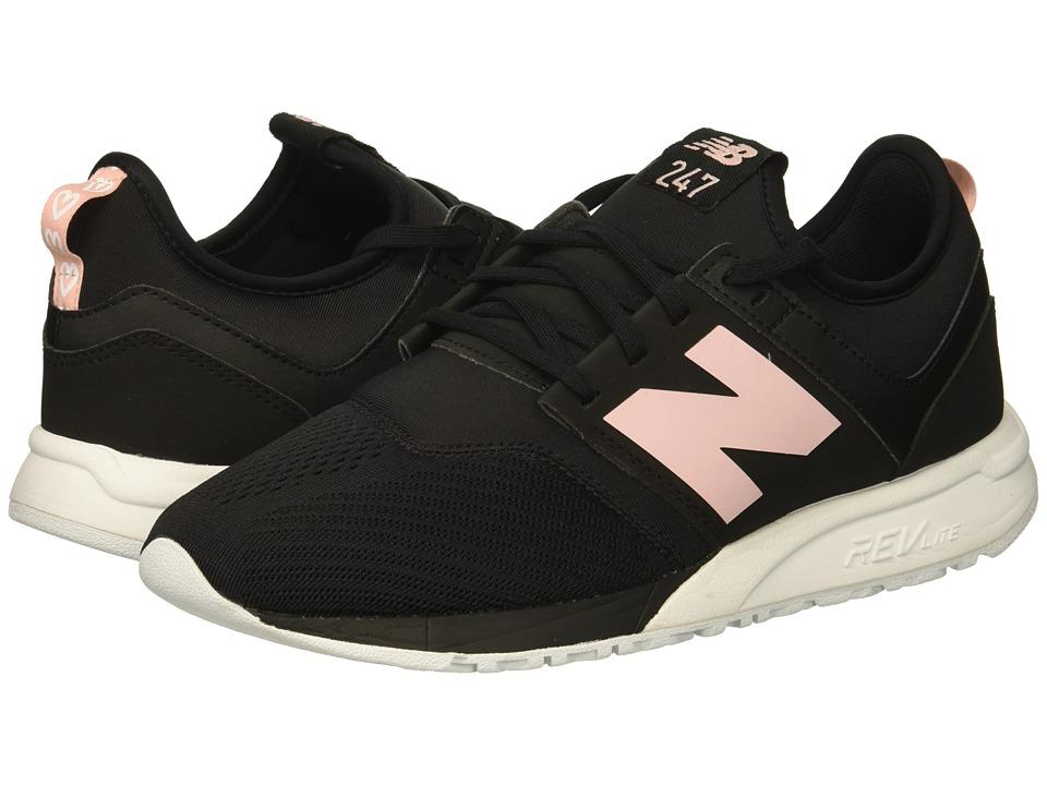 New Balance Classics WRL247v1 (Black/Himalayan Pink) Women's Shoes
