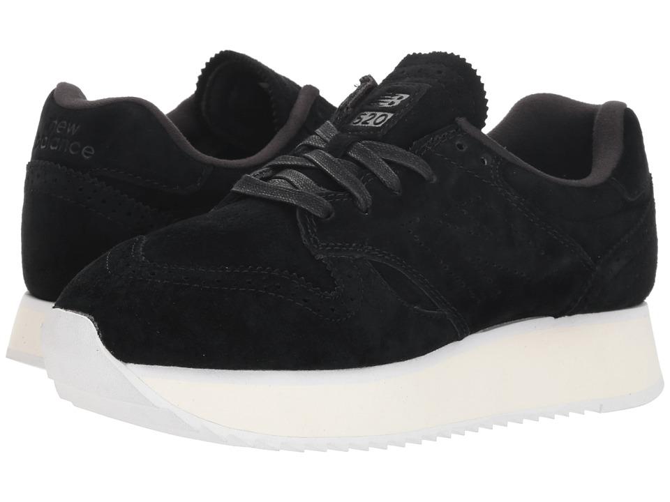 New Balance Classics WL520Mv1 (Black/White) Women's Shoes