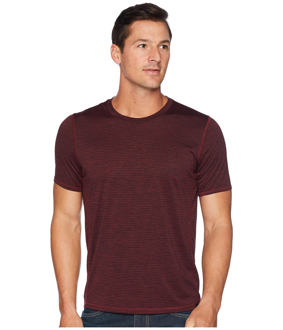 Prana Hardesty T-Shirt (Black Cherry Stripe) Men