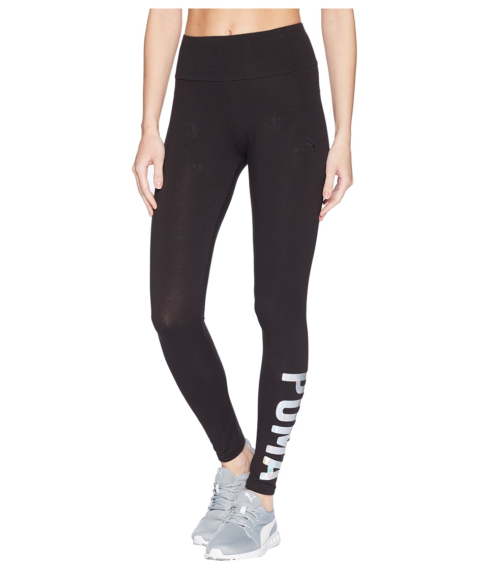 PUMA - Athletic Leggings (Black/Iridescent) Womens Casual Pants