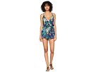 Lucky Brand Lush Leaf Romper with Pockets Cover-Up