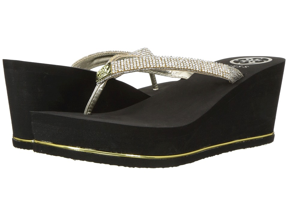 GUESS - Selexy (Gold Fabric) Womens Shoes