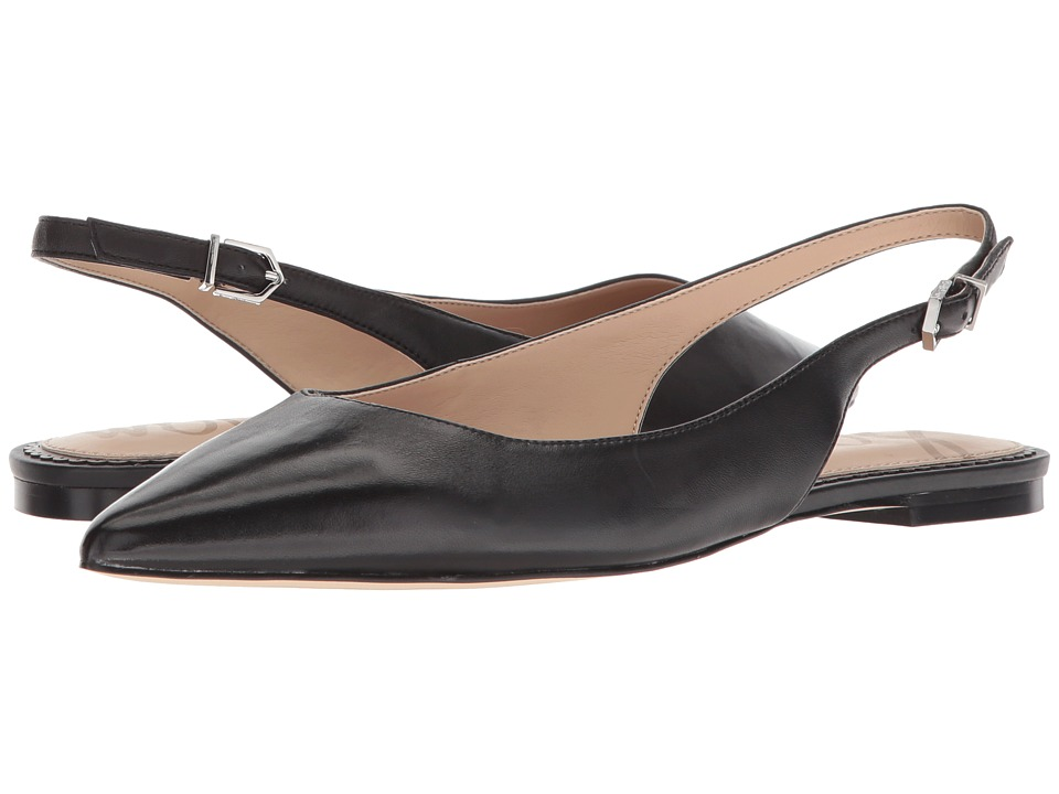 Sam Edelman Raya Slingback Flat (Black Dress Nappa Leather) Women's Shoes