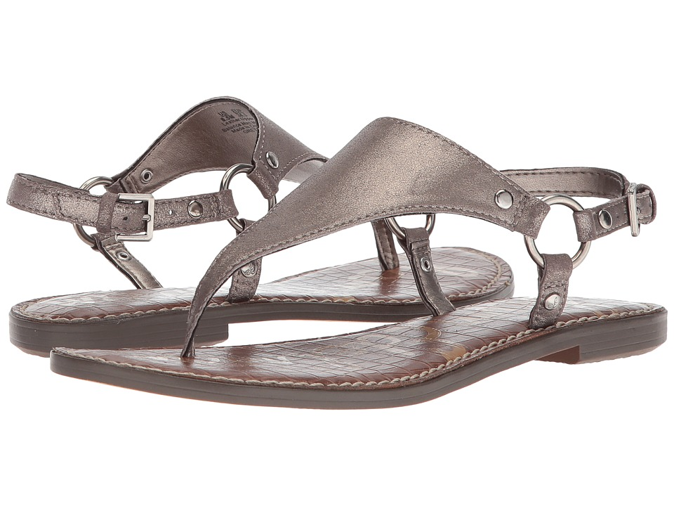 Sam Edelman Greta (Pewter Dreamy Metallic Leather) Sandals