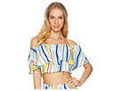 Nanette Lepore Amalfi Coast Off the Shoulder Crop Top