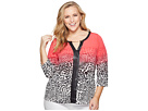 Calvin Klein Plus Plus Size 3/4 Sleeve Print Top with Chain