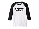 Vans Kids Vans Classic 3/4 Sleeve Raglan (Big Kids)