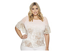Calvin Klein Plus Plus Size Short Sleeve Printed Top with Gather