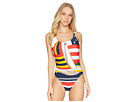 Polo Ralph Lauren Sailboat Side Plunge One-Piece