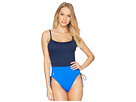 Polo Ralph Lauren Color Block Sail Solids Side Lace One-Piece