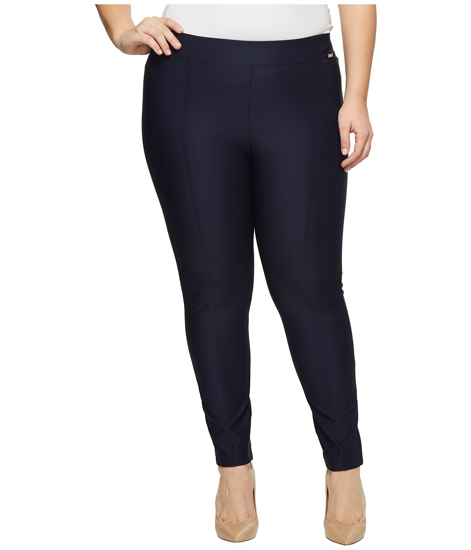 Calvin Klein Plus - Plus Size Straight Leg Compression Pants (Indigo) Womens Casual Pants