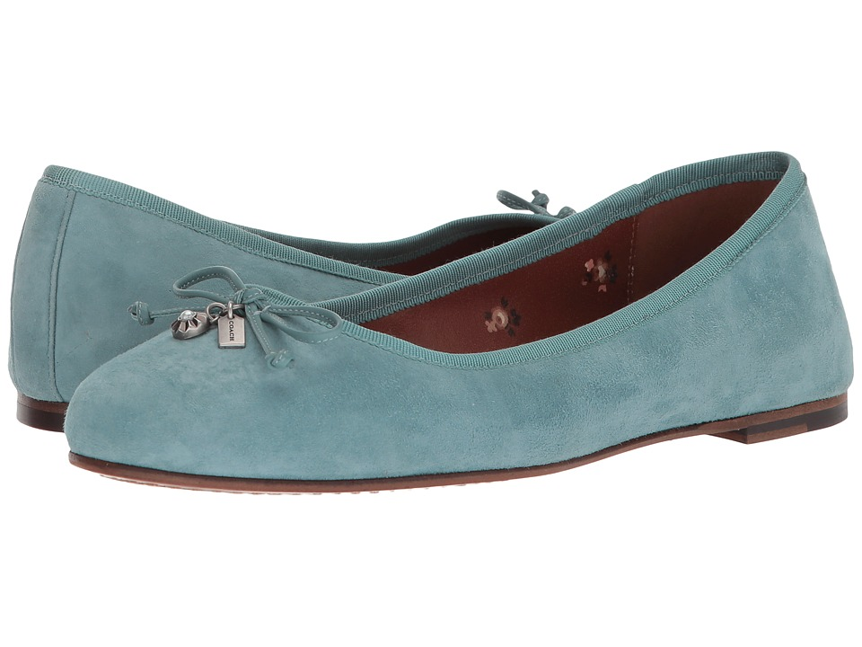 COACH - Lola Ballet (Marine Suede) Womens Slip on  Shoes