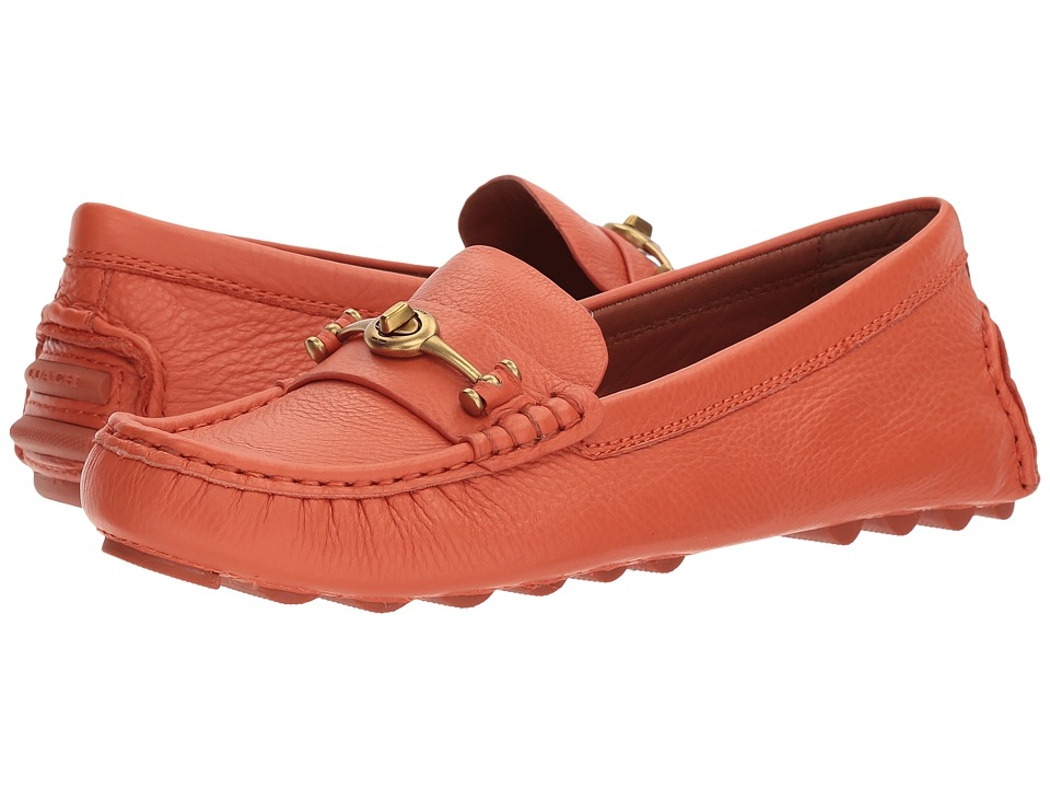 COACH - Crosby Driver (Mandarin Leather) Womens Slip on  Shoes