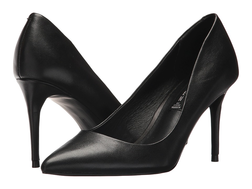Steven Local Pump (Black Leather) High Heels