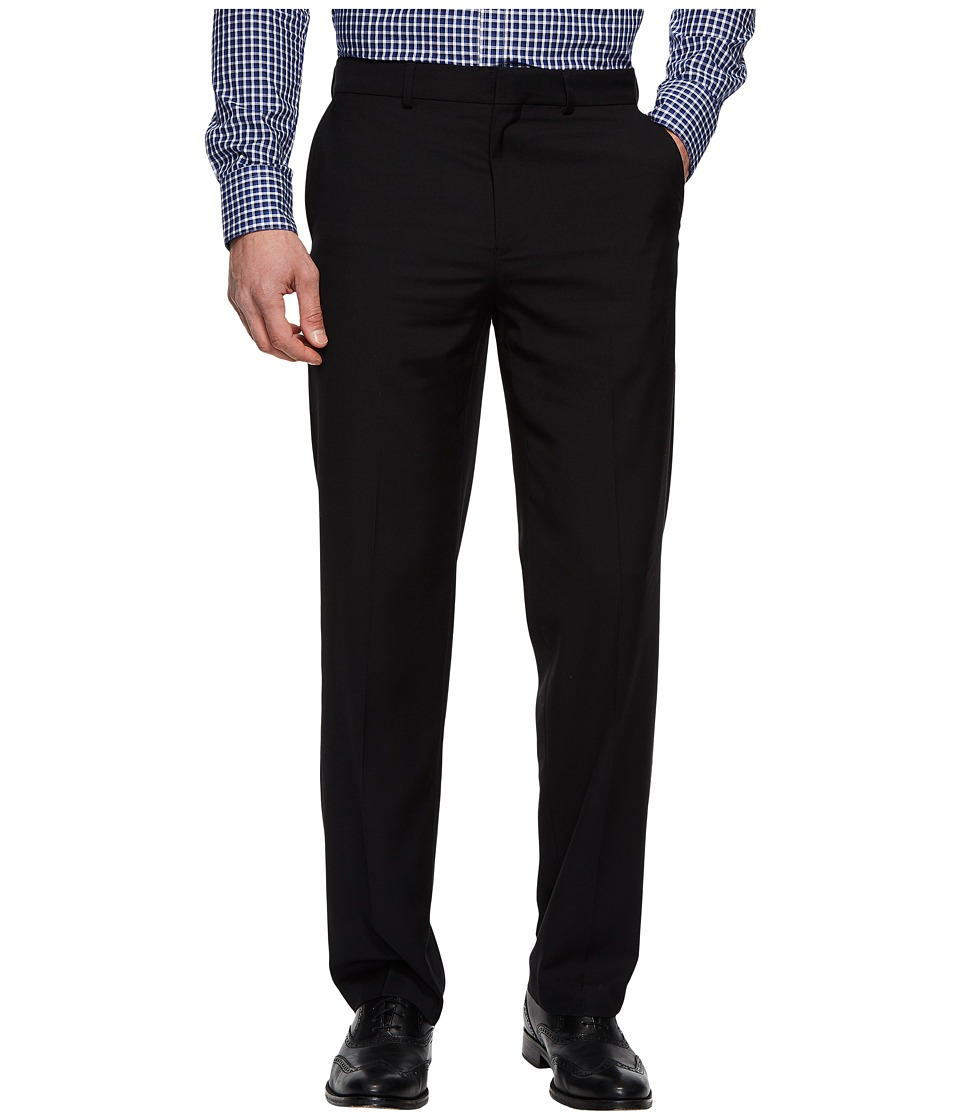 Dockers - Straight Flat Front Stretch Trousers (Black) Mens Dress Pants