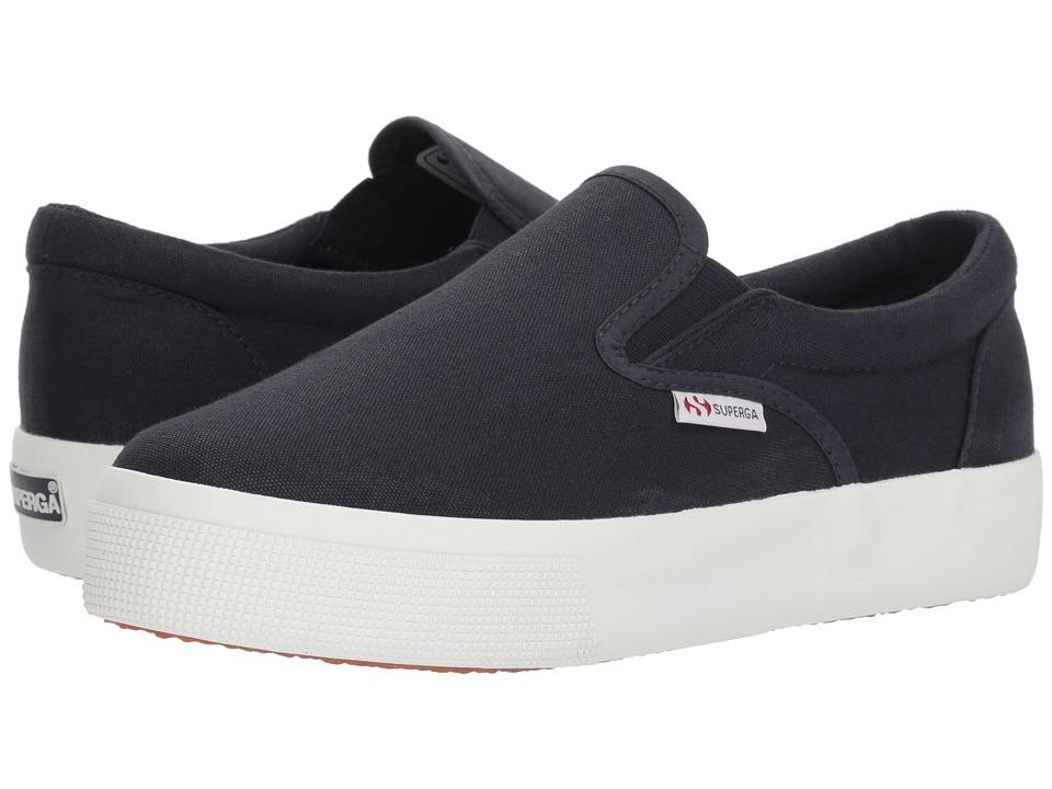 Superga - 2730 Slip-On (Navy) Womens Slip on  Shoes