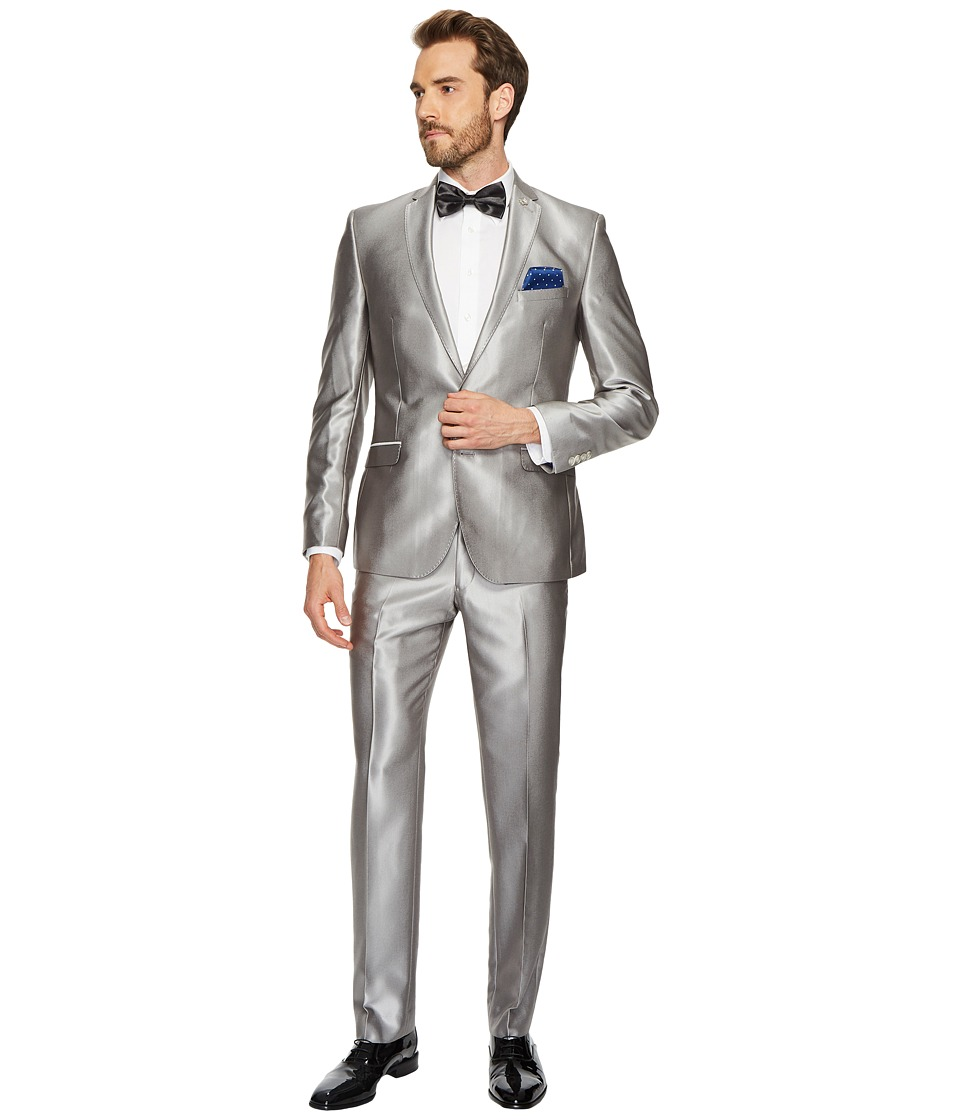 Nick Graham - Two-Button Shawl Collar Solid Tuxedo (Silve...