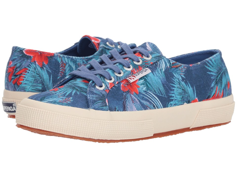 Superga - 2750 Maufloral (Blue Multi) Womens Lace up casual Shoes