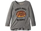 The Original Retro Brand Kids Donuts Make Me Happy 3/4 Tri-Blend Pullover (Big Kids)