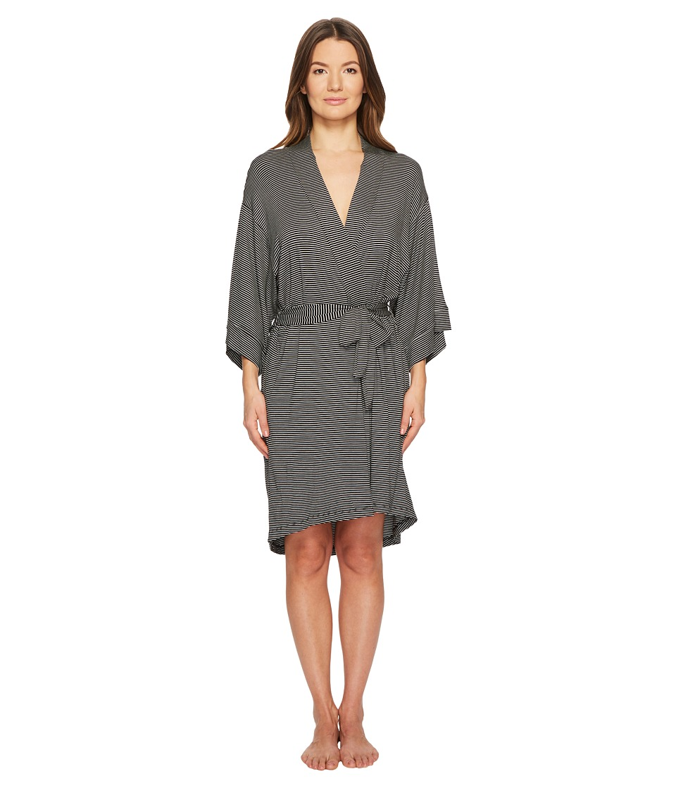 Maison Du Soir - Florence Robe (Black/White Stripe) Womens Robe
