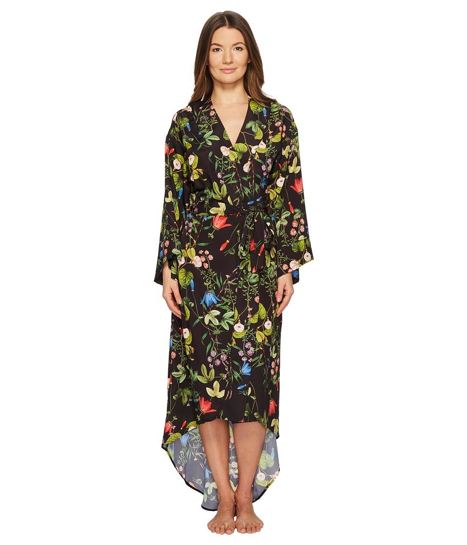Maison Du Soir - Isabella Robe (Black Floral) Womens Robe